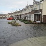 Flooding in Claregalway village, 21st of November 2009