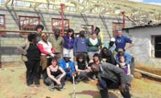 Report of local resident's volunteer work in Africa