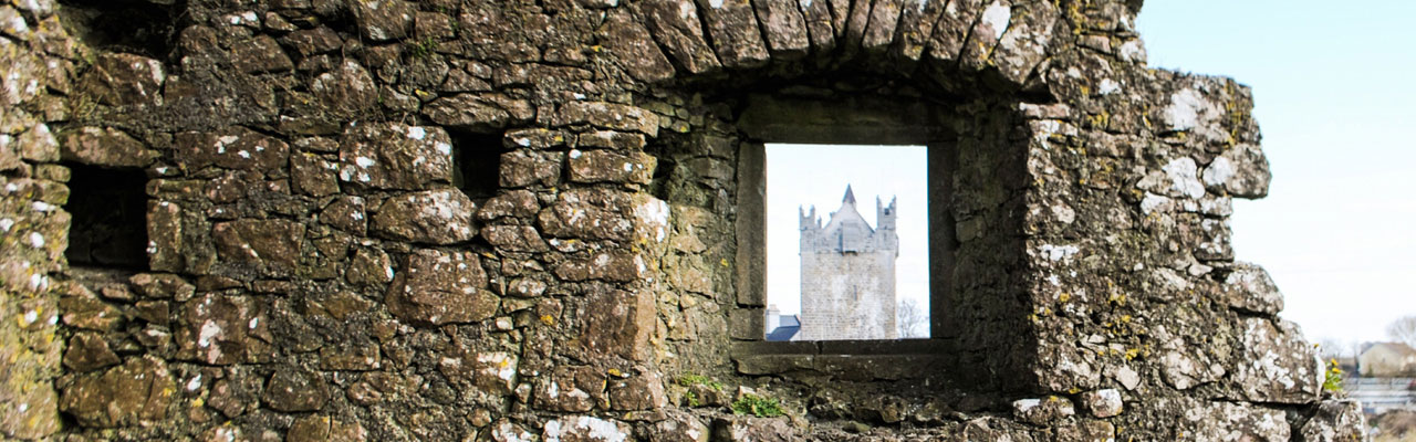 A view of Claregalway Castle from the Friary