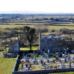 A view of the Friary from atop Claregalway Castle