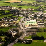 An aerial view of Claregalway village