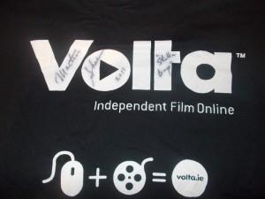 Martin Sheen signature on Galway Film Fleadh tee shirt