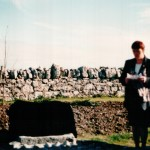 josette-farrell-speaking-at-unveiling-of-famine-stone-claregalway