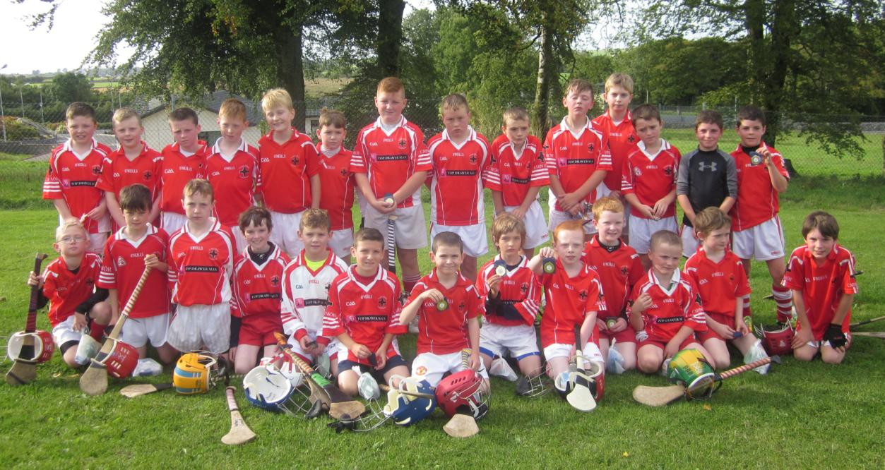 The U10 squad pictured in Abbeyknockmoy, with their medals, after competing in the CATS Blitz Final.