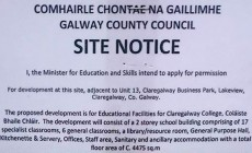 Claregalway School Site Will Cater for 1,000 Students in Five Years