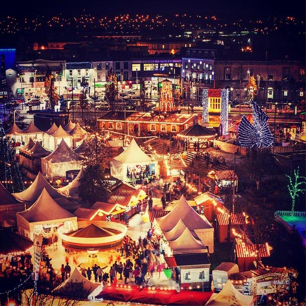 Last year's Galway Christmas Market. Photo via GalwayChristmasMarket on Instagram.