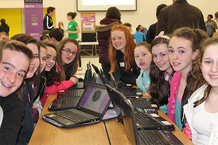 Pictured are some Coláiste Bhaile Chláir students after winning the 'Three in a Row'—the February, March and April schools MATHletes challenge—earlier this year.