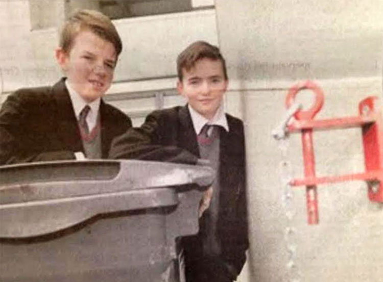 Students from Coláiste Bhaile Chláir Eoghan Furey and Rúairí Gallagher, Annaghdown will bring their ClippyBin device to this year's BT Young Scientist exhibition. Photo by Ray Ryan