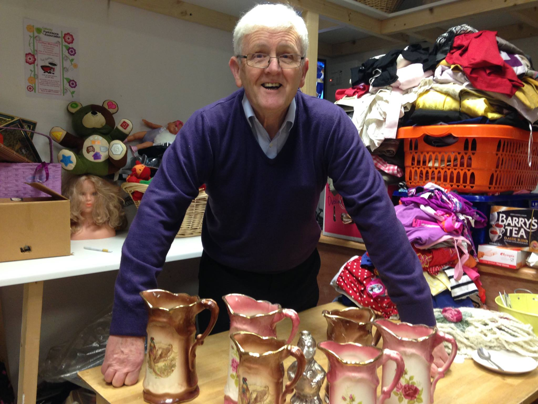 Tony Doyle, Chairperson of 'Never Too Old' Charity Shop in Cois Chláir pictured recently by Josette Farrell.