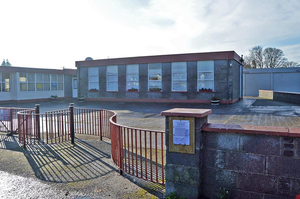 The current school in Lackagh, consisting largely of pre-fabs, won't be able to accommodate increasing enrolment numbers without significant development.