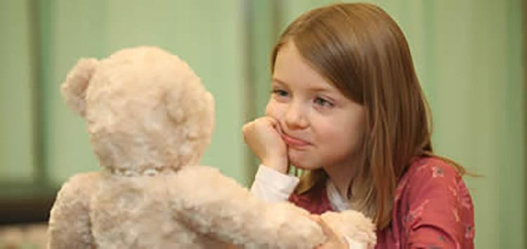 Emma Richardson (6) from Galway Educate Together School at the launch of NUI Galway's 8th Annual Teddy Bear Hospital which will take place on campus from 24–25th of January.