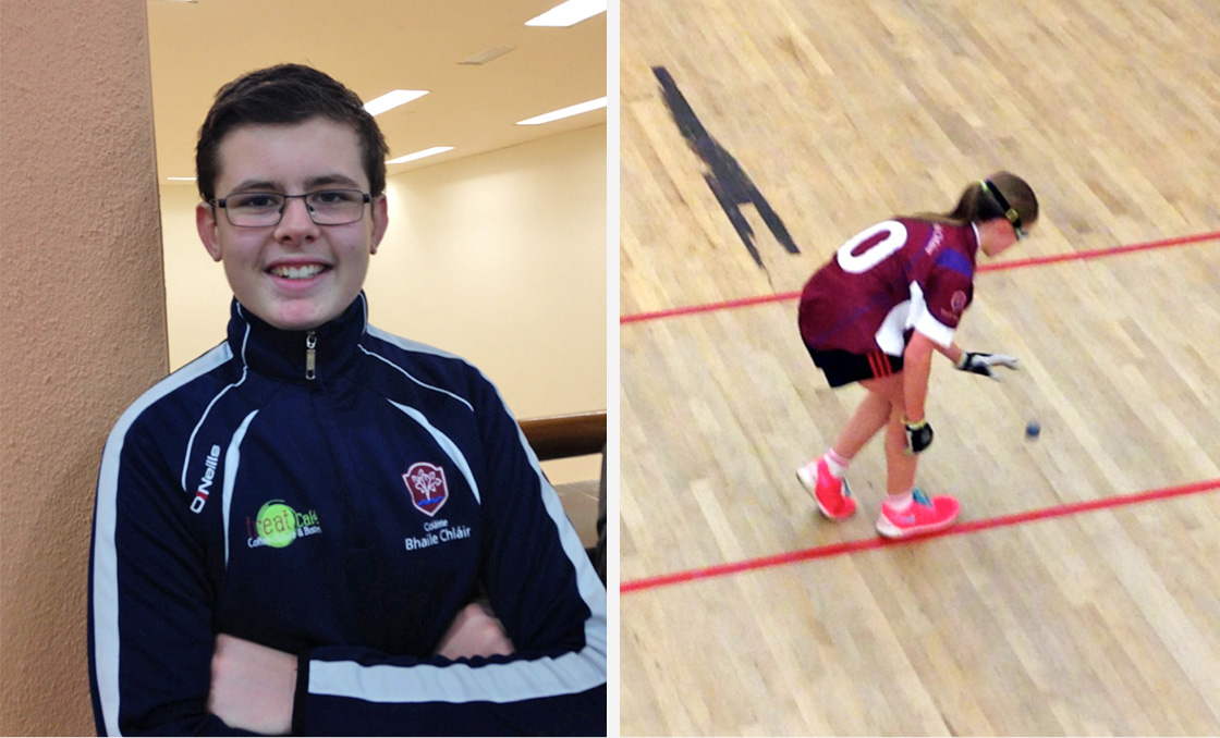 Pictured left is Daragh Jordan who competed in Boys U15, and pictured right is Niamh Heffernan winner of first year A final.