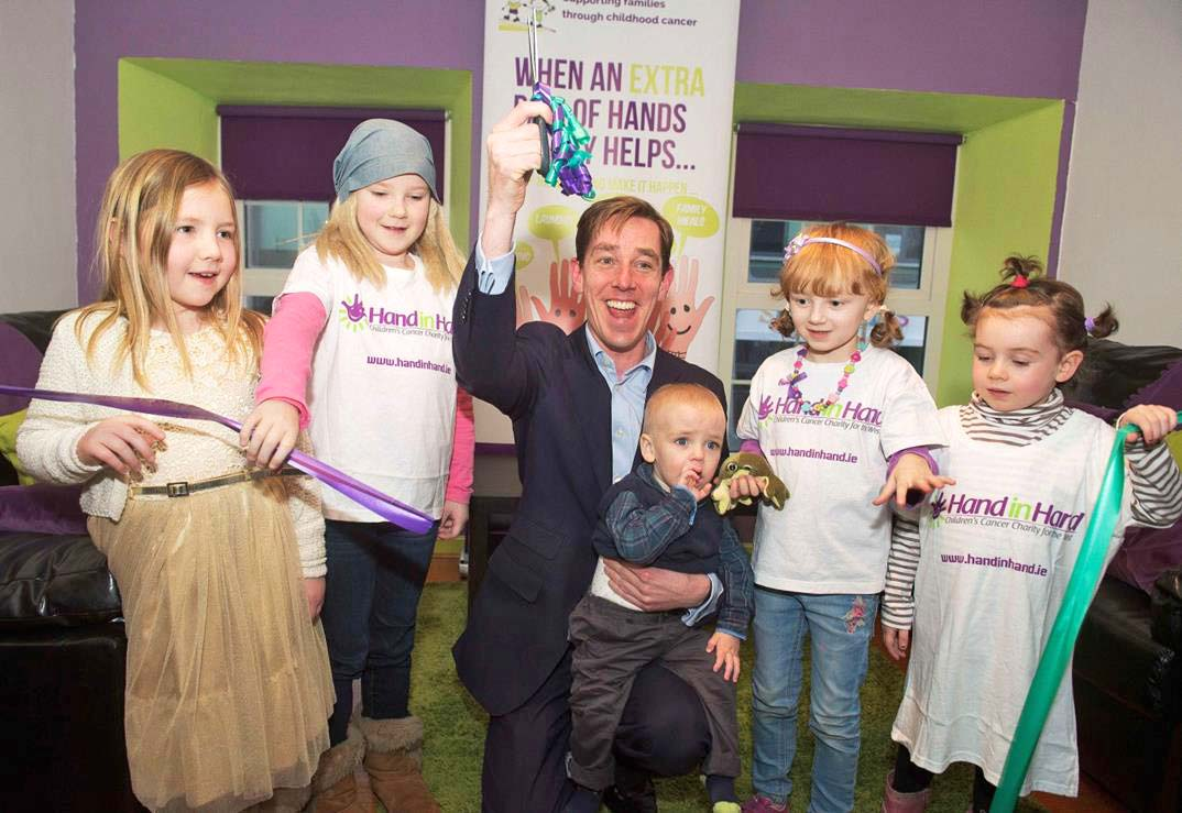 Ryan Tubridy launches Ireland's first dedicated Children's Cancer Support Centre. Photo via Evoke.ie