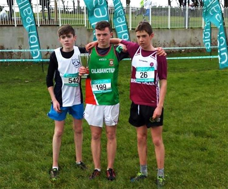 1st Oisín Lyons (Calasanctius College Oranmore), 2nd Sean O'Hanlon (Rice College Westport), 3rd Aaron Brennan (Coláiste Bhaile Chláir).
