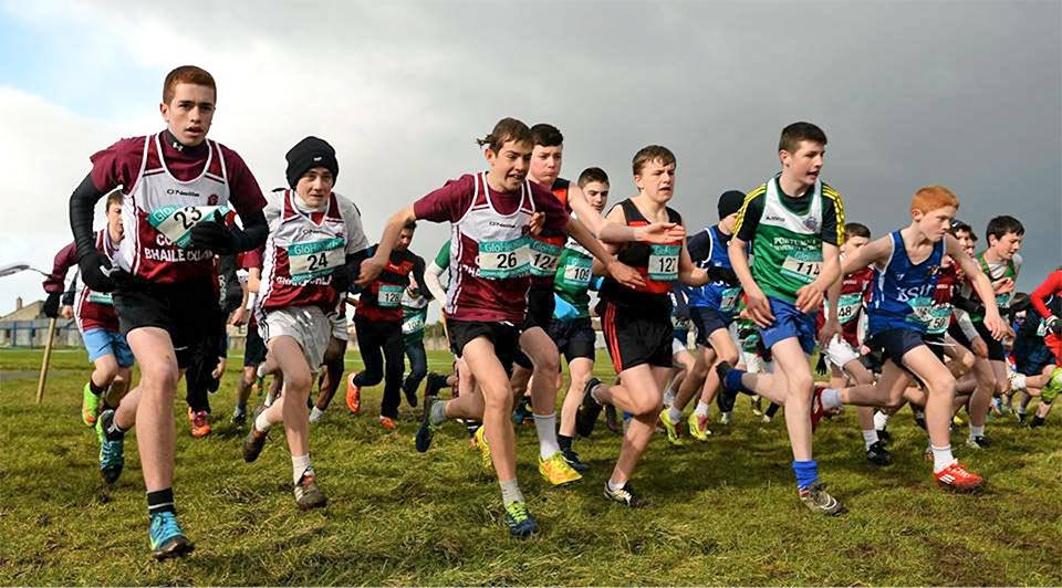 And they're off! Start of the Junior boys race at Sligo racecourse.