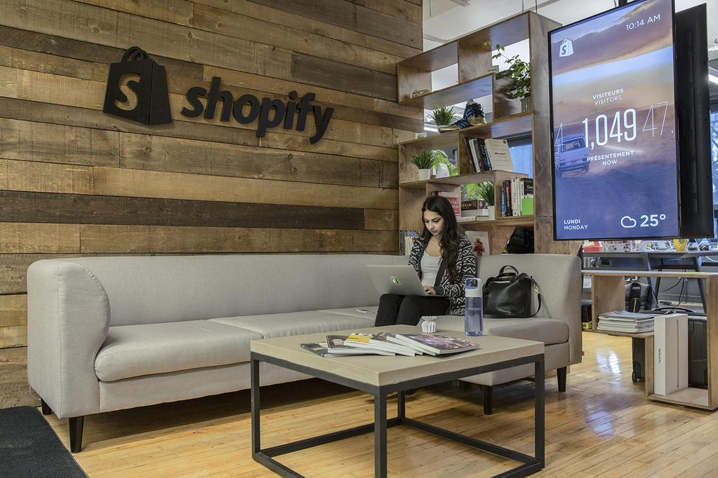 Shopify's headquarters in Montreal.