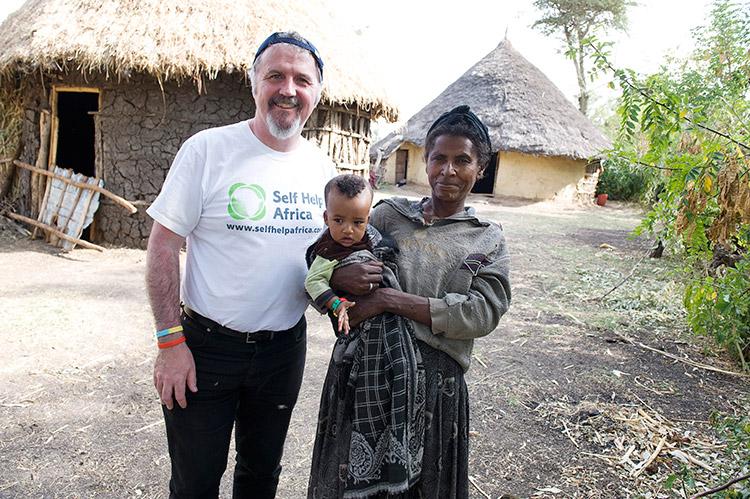 Ronan with Berela and her child Yeabsira in the Sodo Region of Ethiopia.