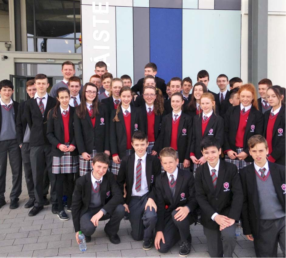 Students from Coláiste Bhaile Chláir who participated in the first ever Connacht Schools indoors at Athlone IT.