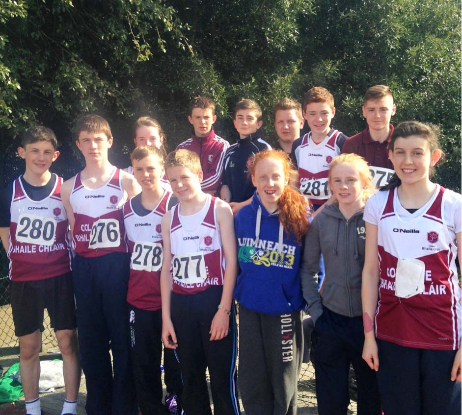Some of the students who participated in the South Connacht Athletics Track & Field in Dangan.