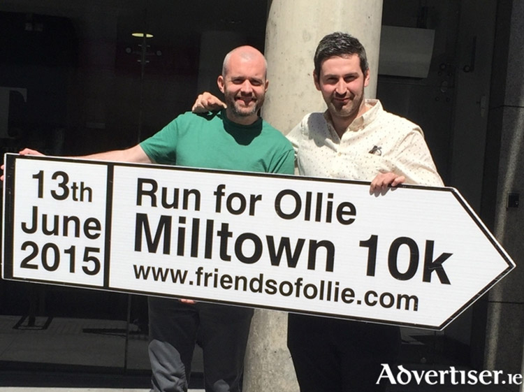 Eoin McDevitt and Ciaran Murphy from RTÉ's and Irish Times show 'Second Captains' pictured at the launch of the Run for Ollie. Photo via Galway Advertiser.