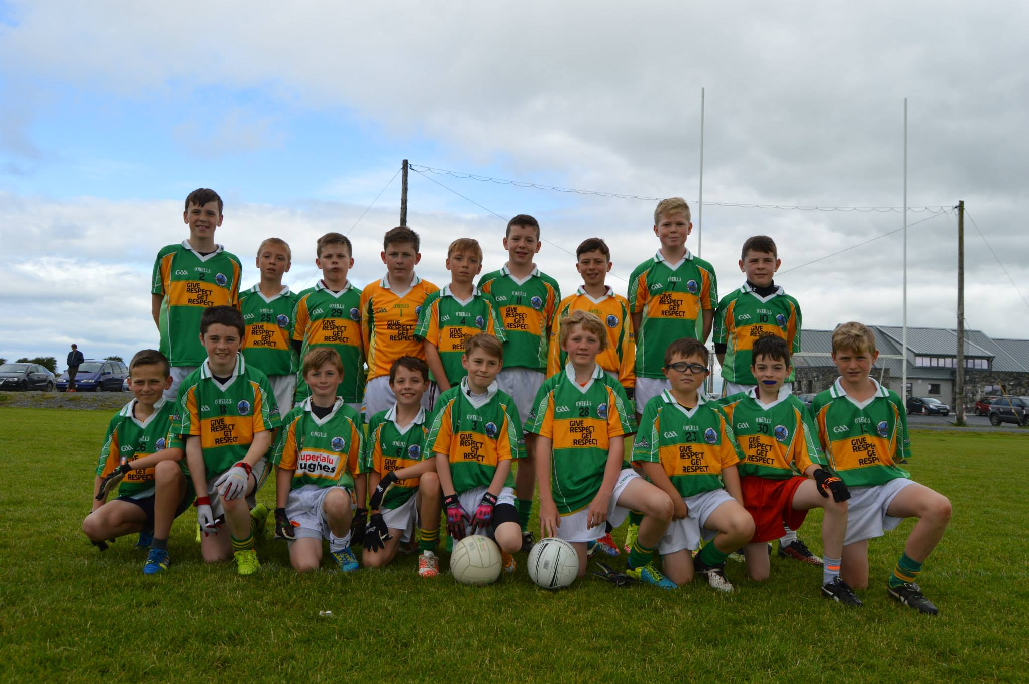 Claregalway Football Club U12s during a friendly game with Monivea Abbey last Sunday at Knockdoemore Park.