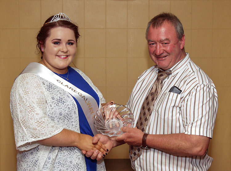 Show Queen Cait Dunleavy and Show Chairman Val Noone at the launch party held in the Arches Hotel Claregalway on 1st of August.