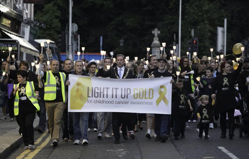 Last year's vigil was a huge success. Photo via ChildhoodCancer.ie.