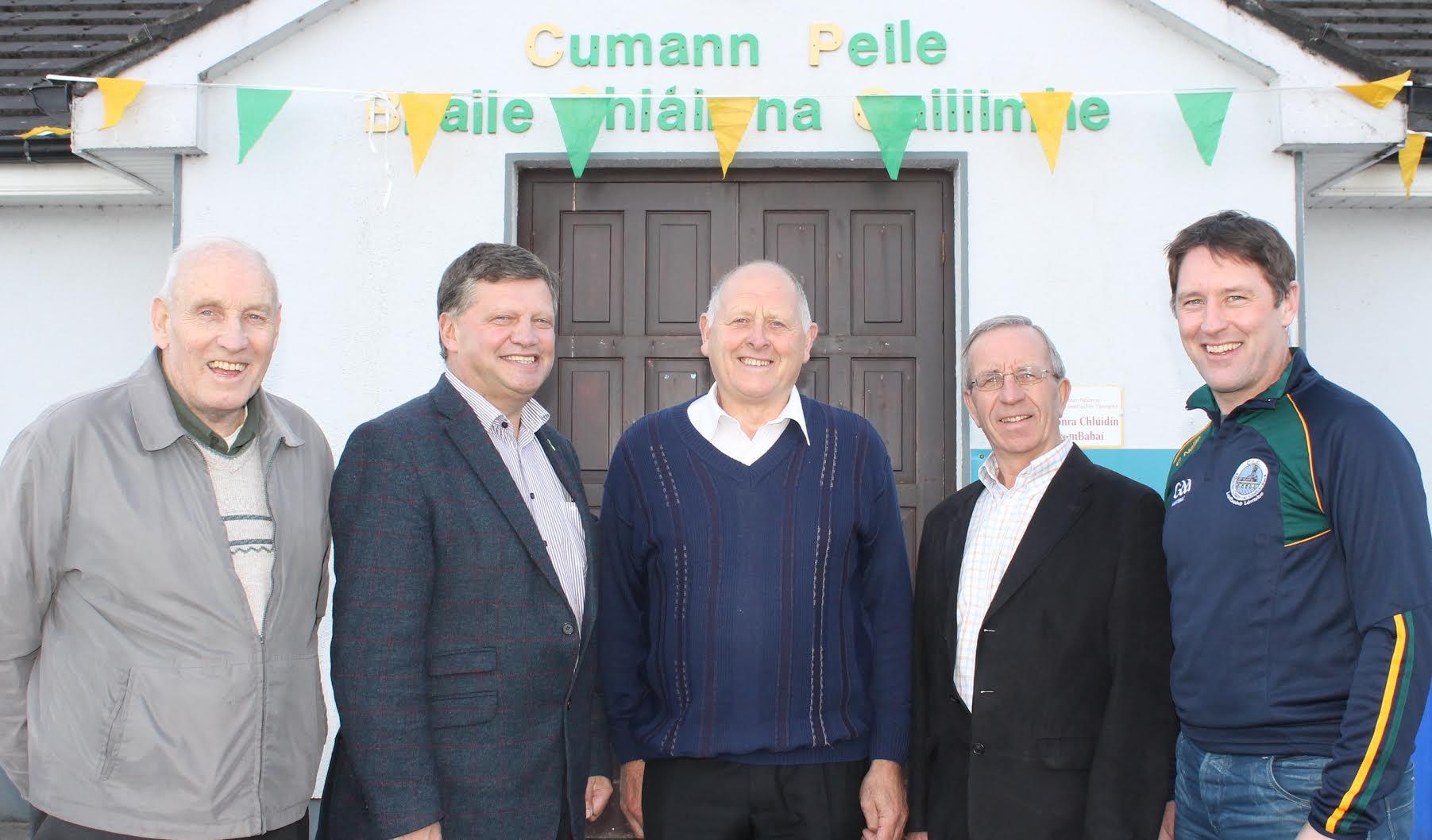 L–R: Tom Lenihan; John O'Mahony TD; Seamus O'Connell, Treasurer; Fergus Madden, Chairman; Joe O'Connell, Secretary.