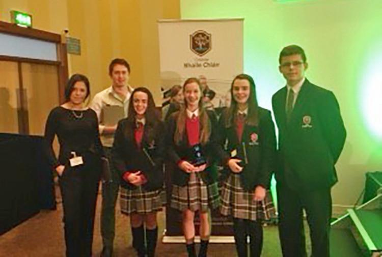 L–R: Ms Dabbagh, Mr Callan, Niamh McCullagh, Vitska Mulroy, Sarah McHale, Darragh Jordan.