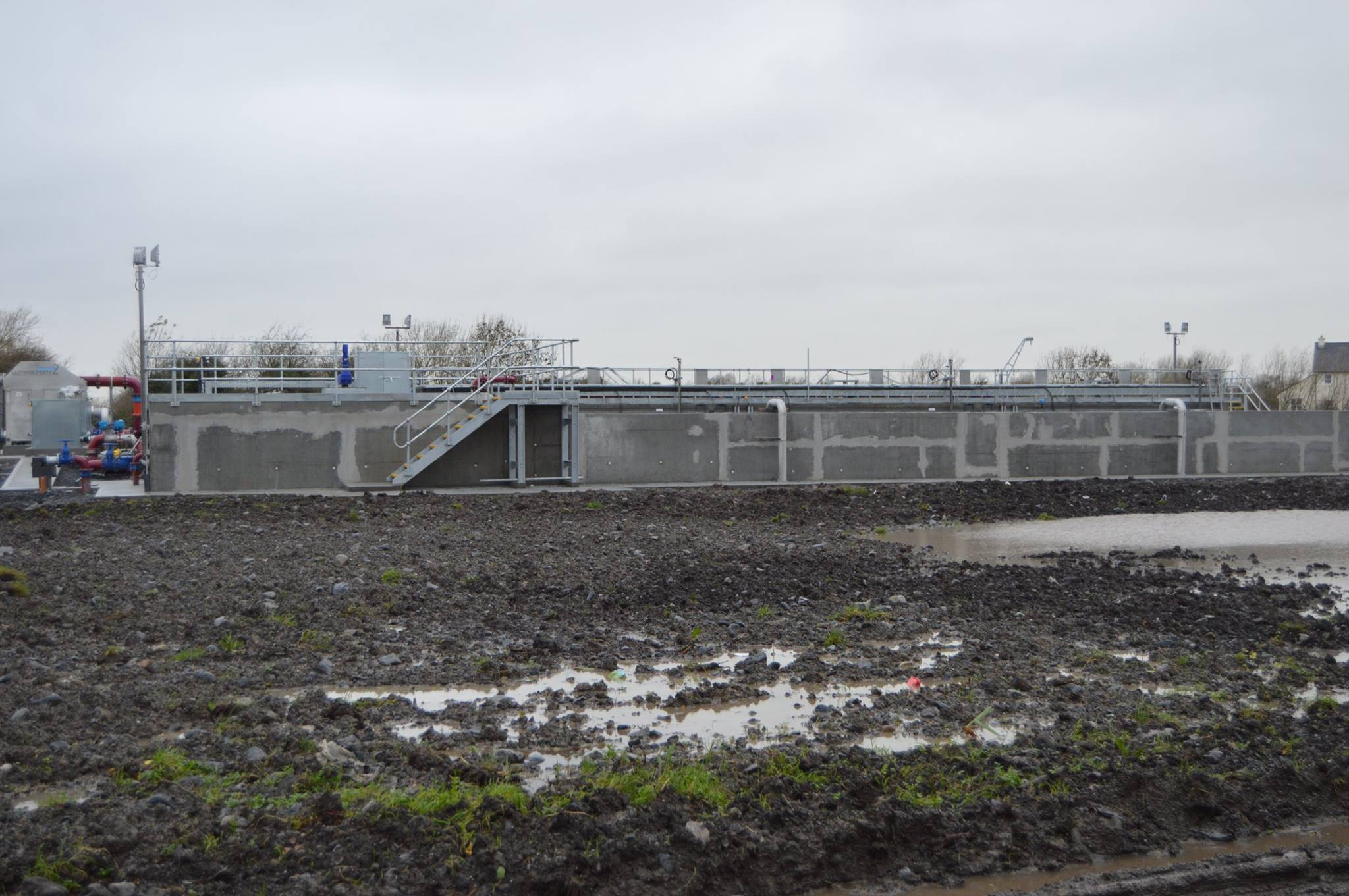 Works undertaken in Montiagh for a sewage treatment facility.