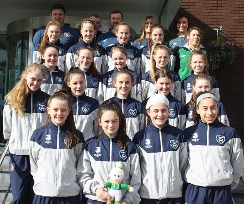 Sinéad is pictured in the Ireland team photo before their game in Cheshire. Well done Sinéad!