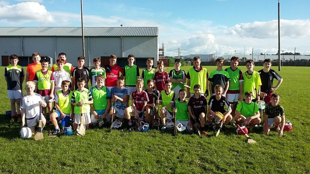 Our 1st year hurlers at the first training session of the year