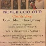 'Never Too Old'Charity Shop in Claregalway
