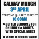 Special needs services protest - Galway - 3rd April at 10am.