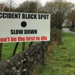 Accident Black Spot at Bawnmore Crossroads.