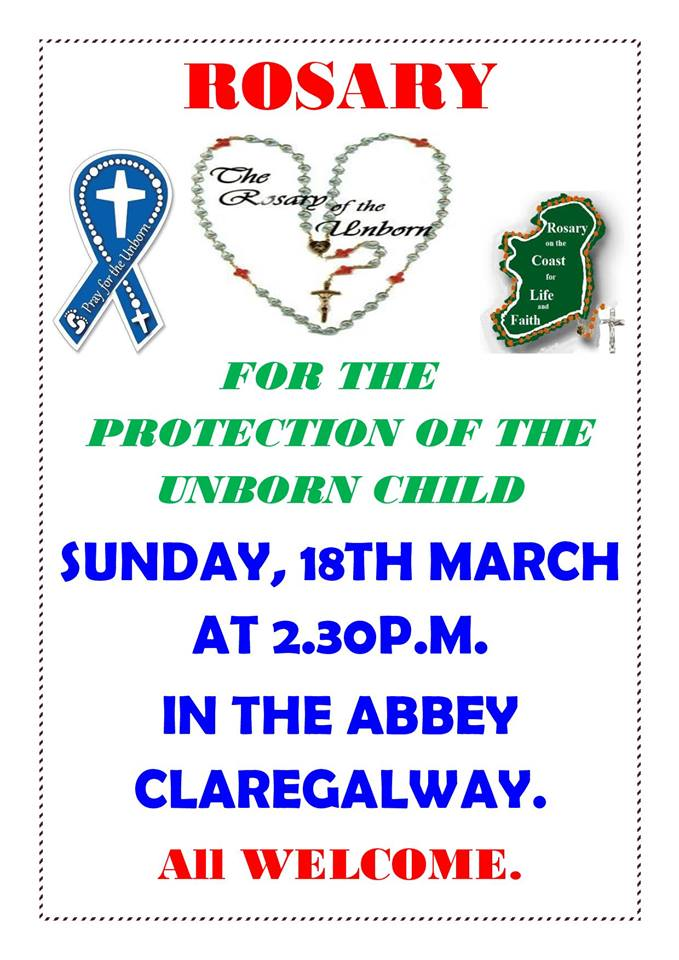For the Protection of the Unborn Child - in the Abbey, Claregalway.