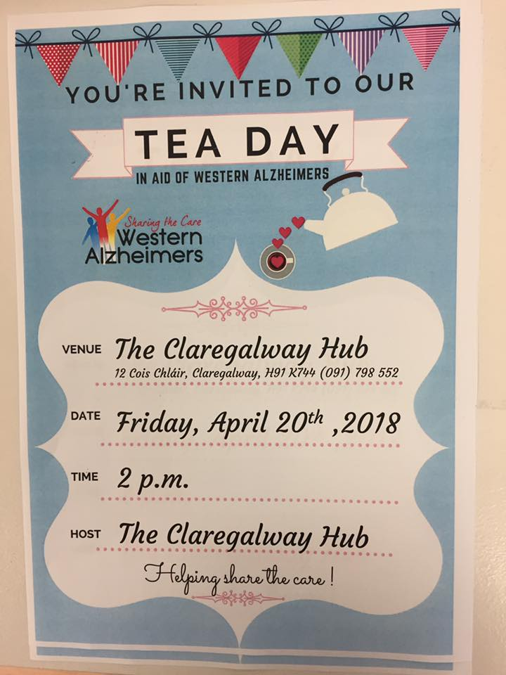 Tea Day in Claregalway Hub - in aid of Alzheimers and new build in Claregalway